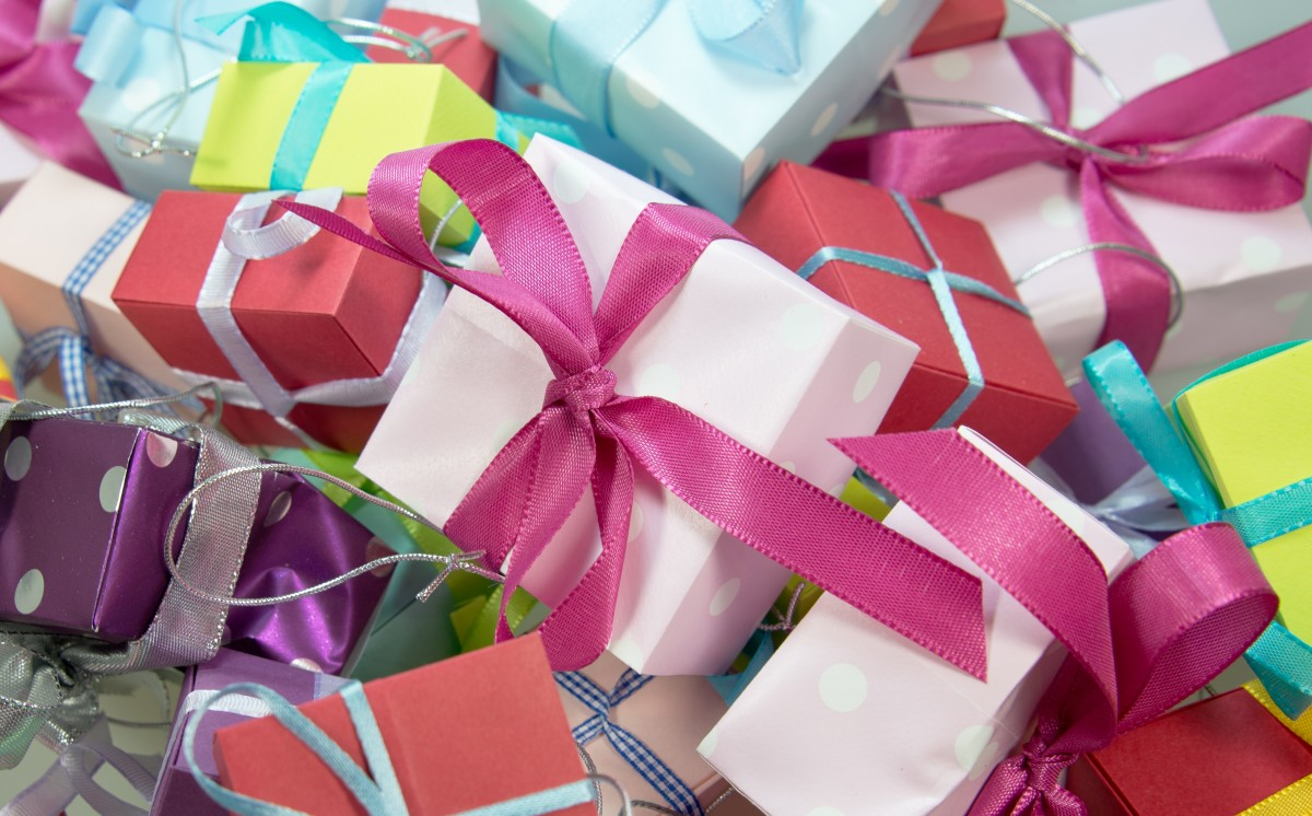 Presents Wrapped With Bows
