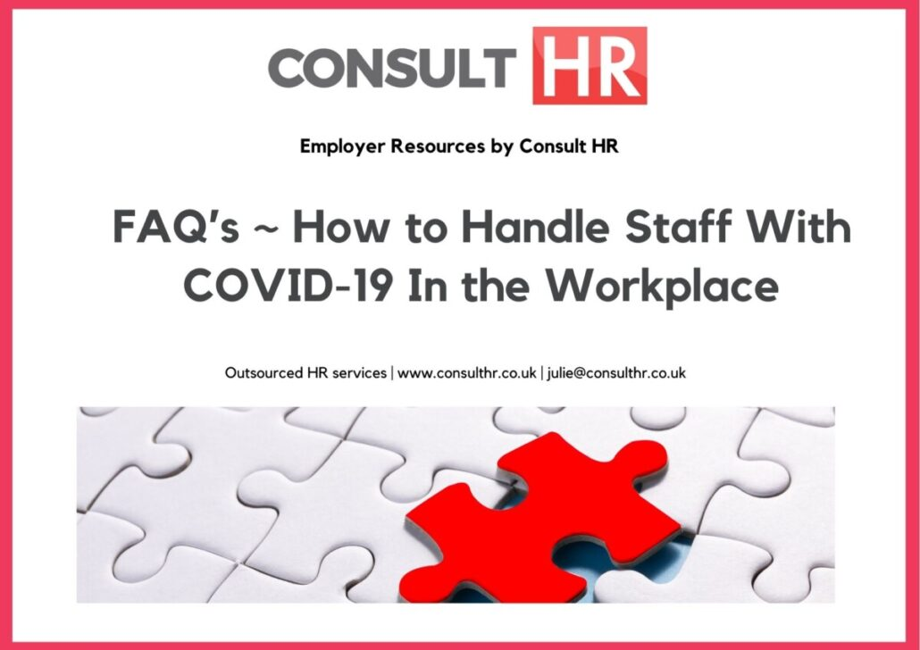 Consult HR image of How to Handle Staff with Covid